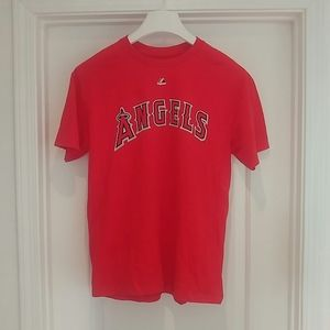 Angels Mike Trout #27 tee baseball